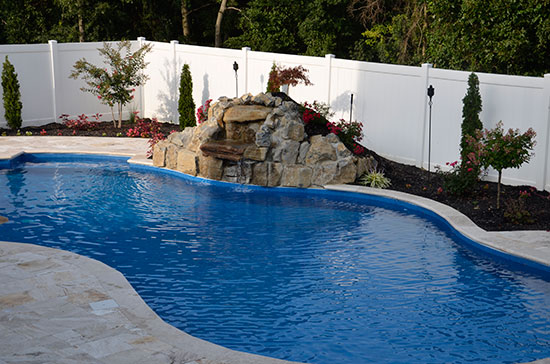 Beautiful Long Island poolscape